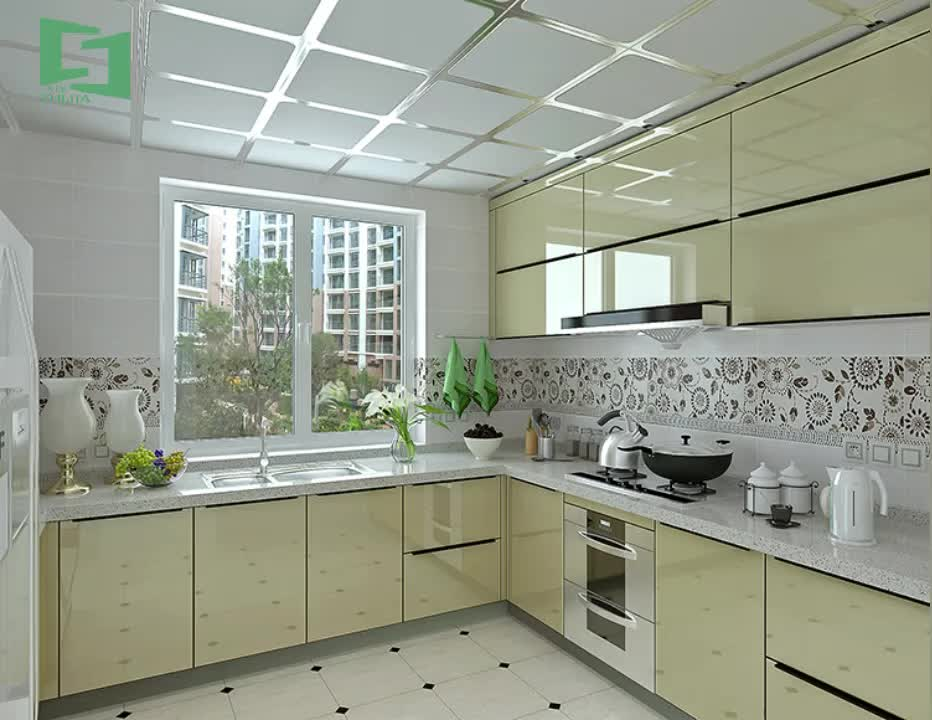Factory Direct Sales High Gloss Kitchen Cabinet Set In