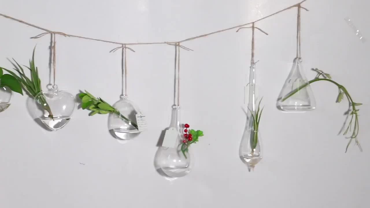 Artdragon Nuovo disegno della decorazione della casa appeso lacrima caduta a forma di pianta terrario di vetro