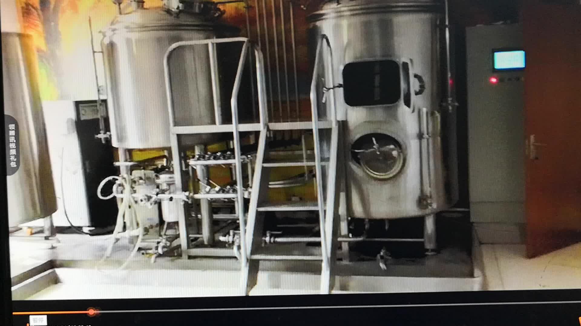 स्टेनलेस स्टील 1000L बीयर शराब Brewhouse किण्वन टैंक