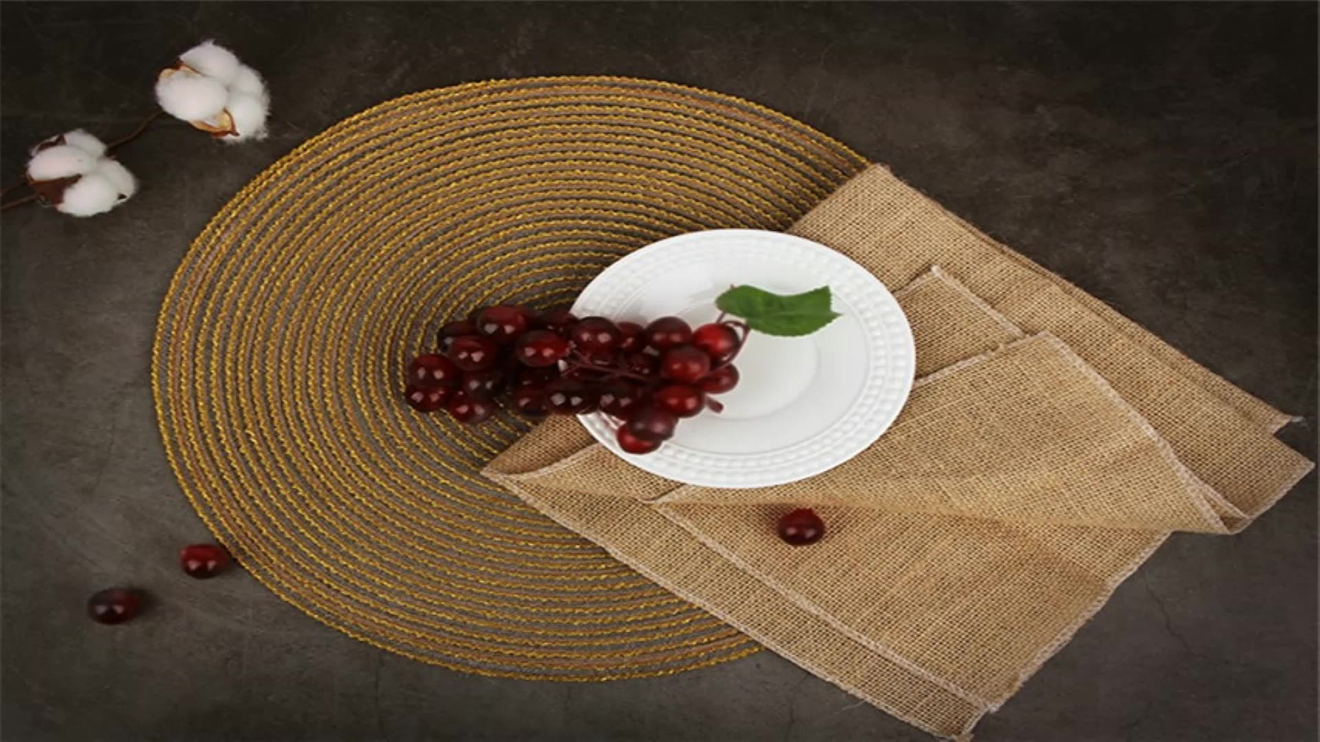 crossweave woven red placemat stain resistant pink placemat kitchen table mats