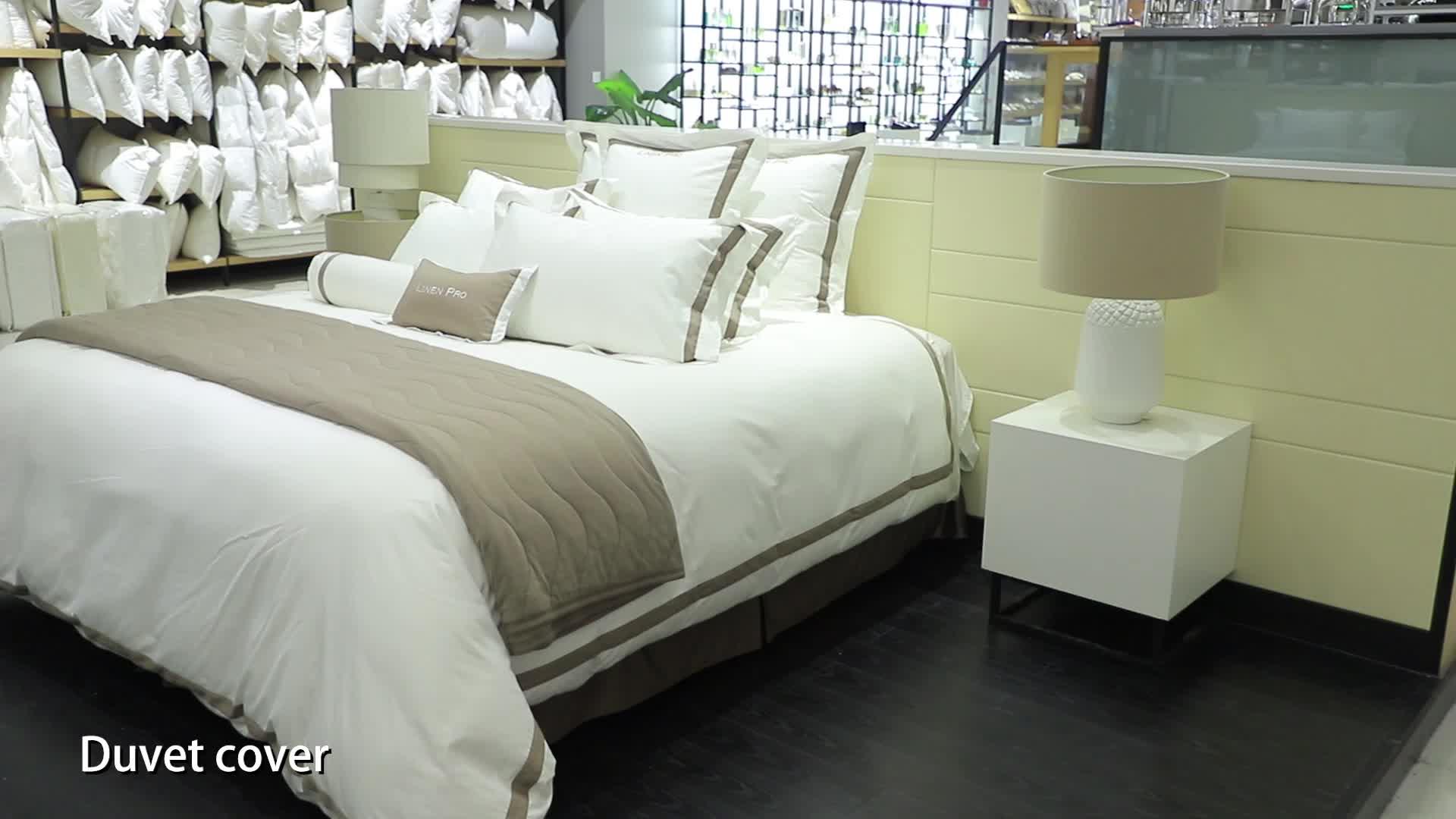 LinenPro  knitted White 100% Pakistan cotton seersucker king hotel life bedding sheet set
