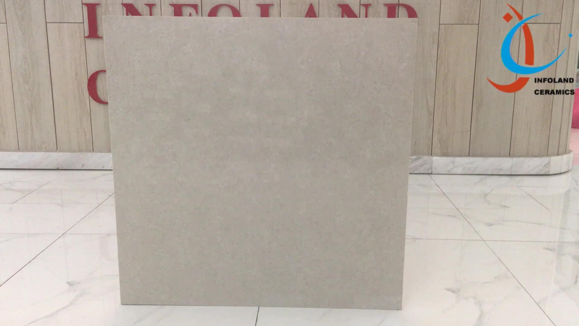 White Polish Porcelain Floor Tile 600 X 600mm Gres Porcelain Tile