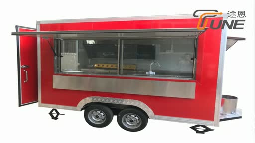 China Food Service Cart/Fast Food Trailer/Mobile Food Truck For Sale