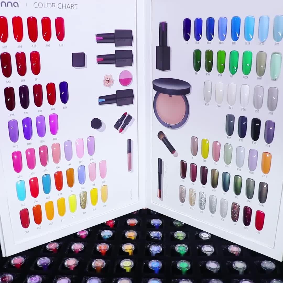 Hot Selling UNNA 88 Colors Nail Gel Polish  Color Gel Set For Salon Use