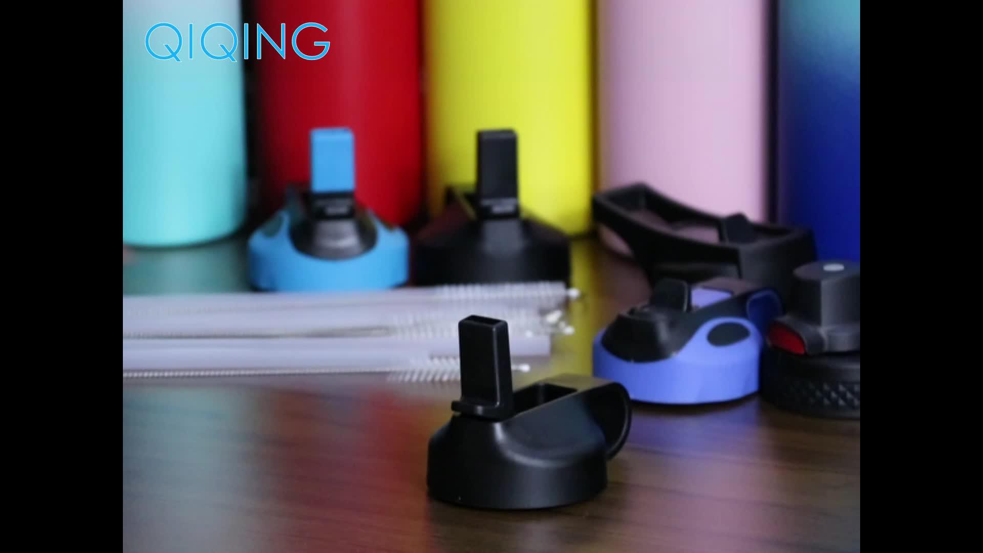 Commercio all'ingrosso ampia bocca di plastica BPA libero bottiglia di acqua bocca larga flex paglia coperchio