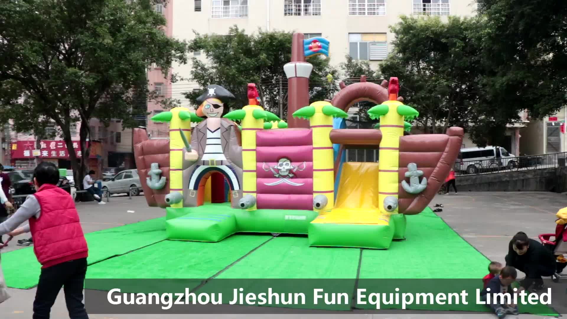 High Quality Custom Pirate Ship Themed Inflatable Jumping Bed Castle Adult Inflatable Bounce House