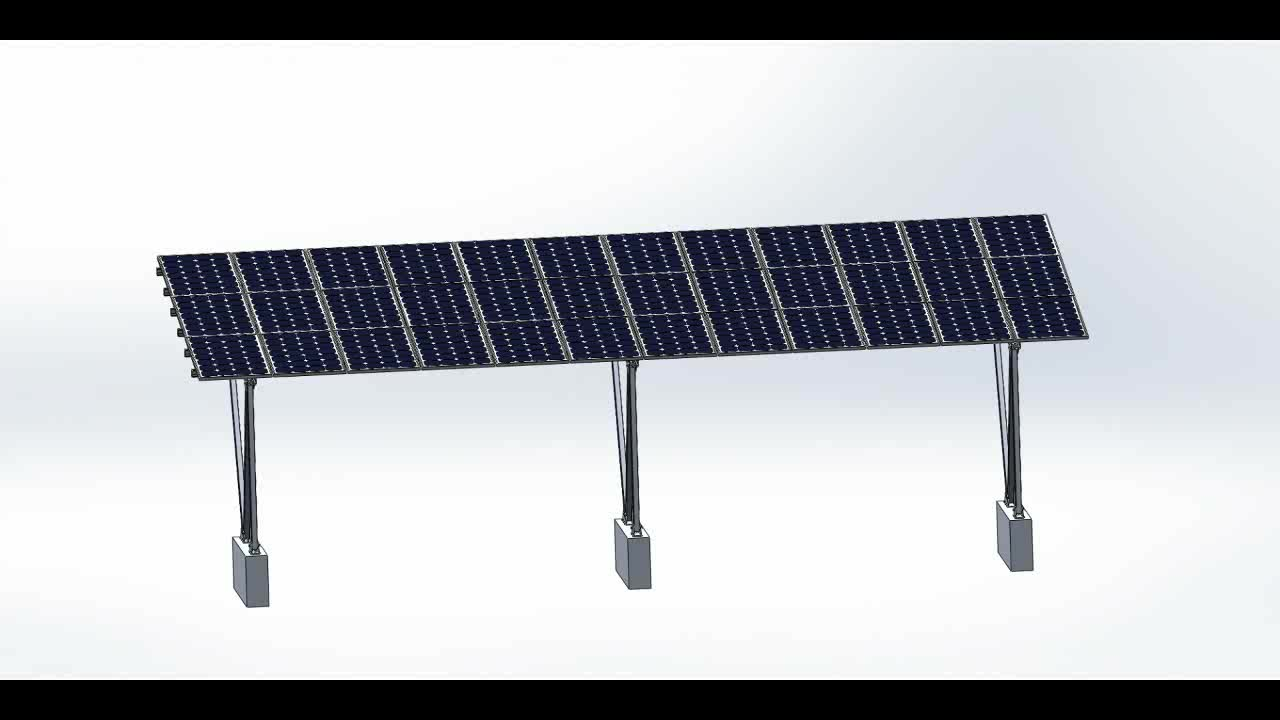 Solar aluminium carport mounting system/structure/support/car roof racks
