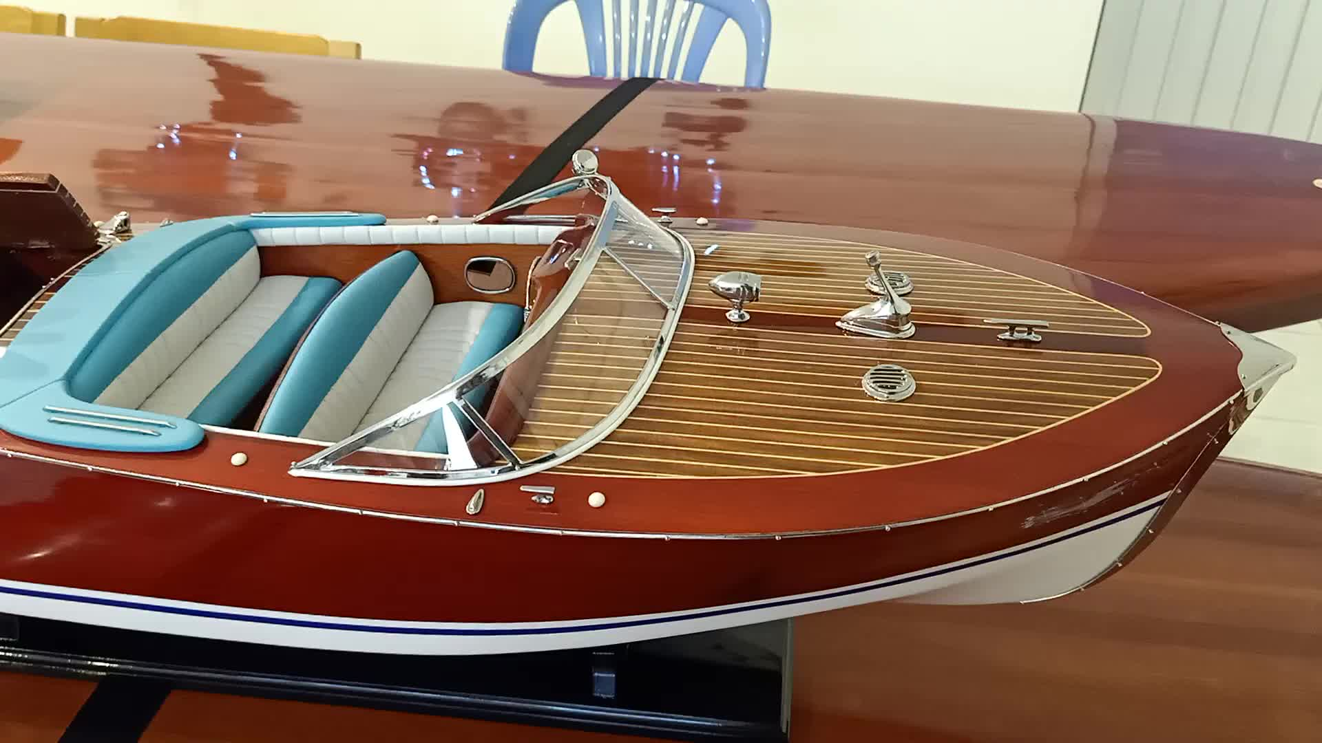 """Details about  /Riva Triton Speed Boat Painted Large 36/"""" Wood Model Assembled"""