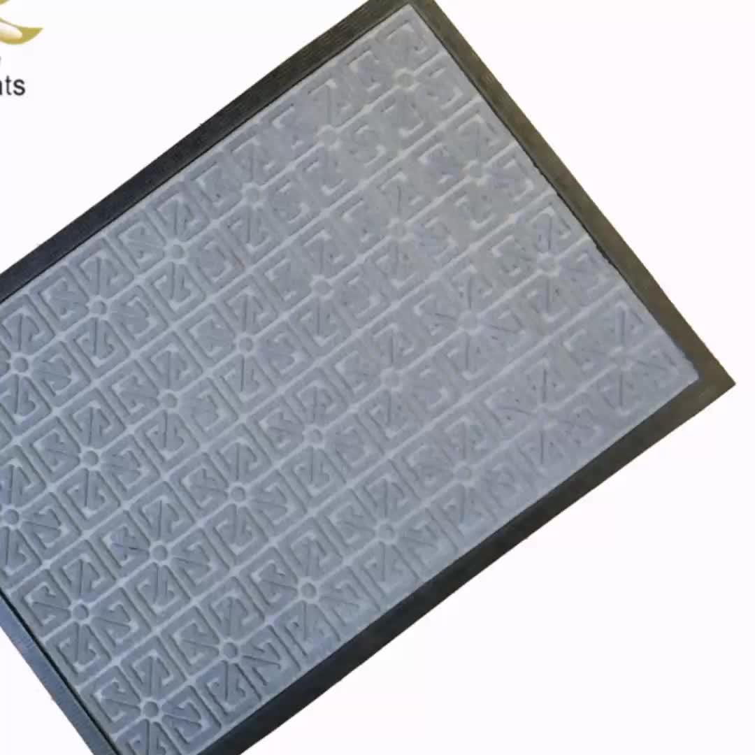 Non Slip Outdoor Front Floor 3d Rubber Custom Deur Mat
