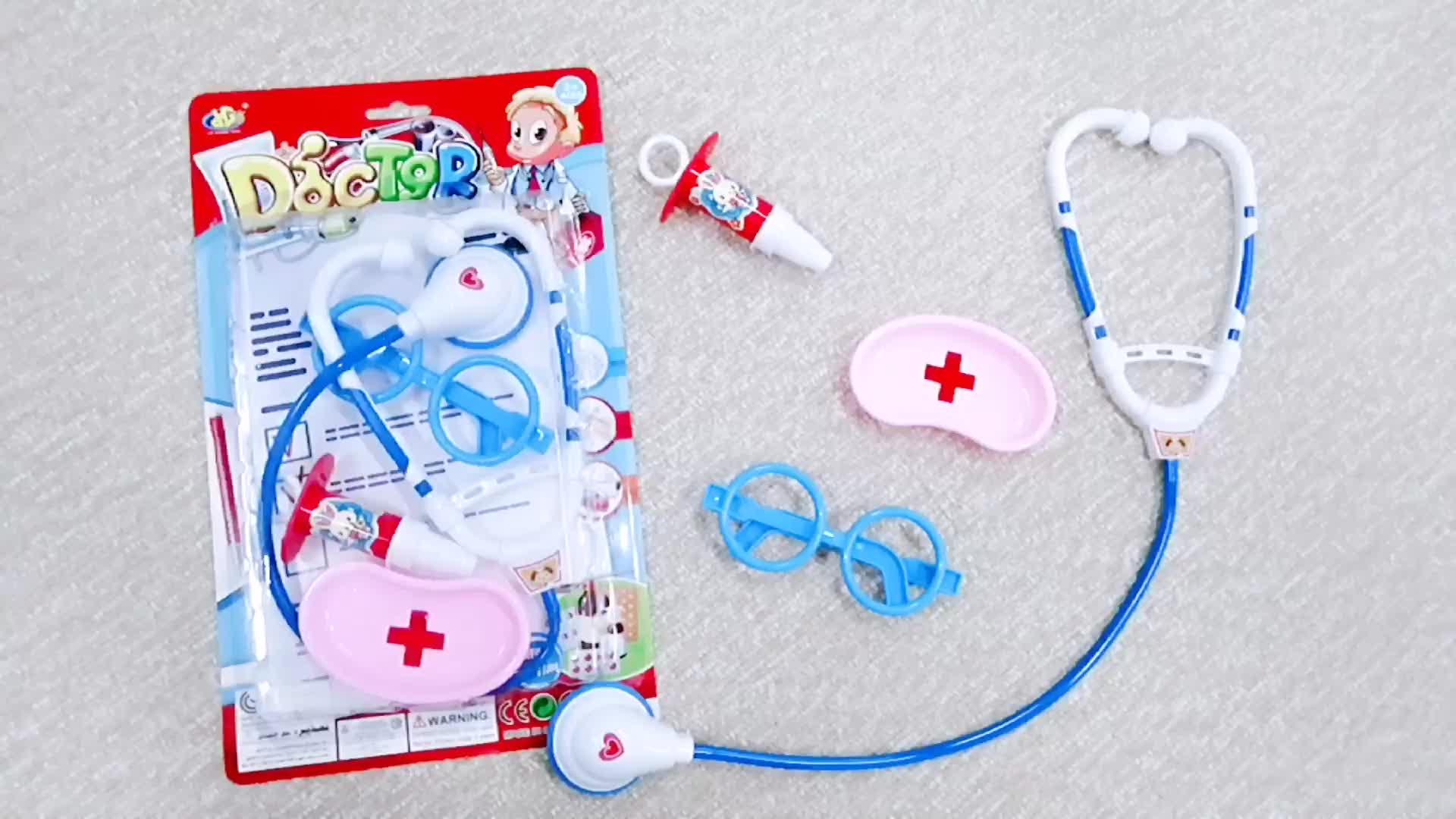 Pretend gioca bambini kit medico strumento di plastica medico set giocattolo