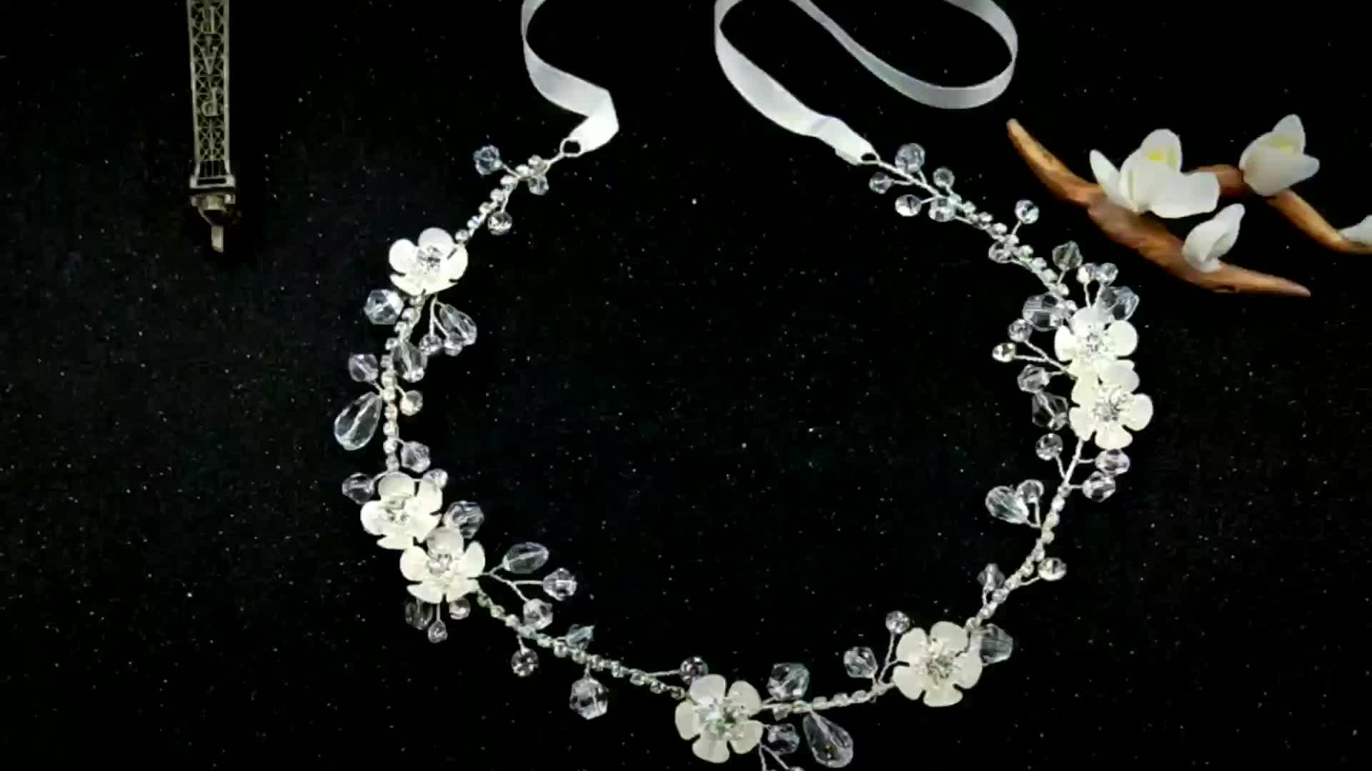 Delicate Big Crystal Accessories Hair Vine Bridal Wedding Collections Headband Women Floral Hair Piece Ornaments