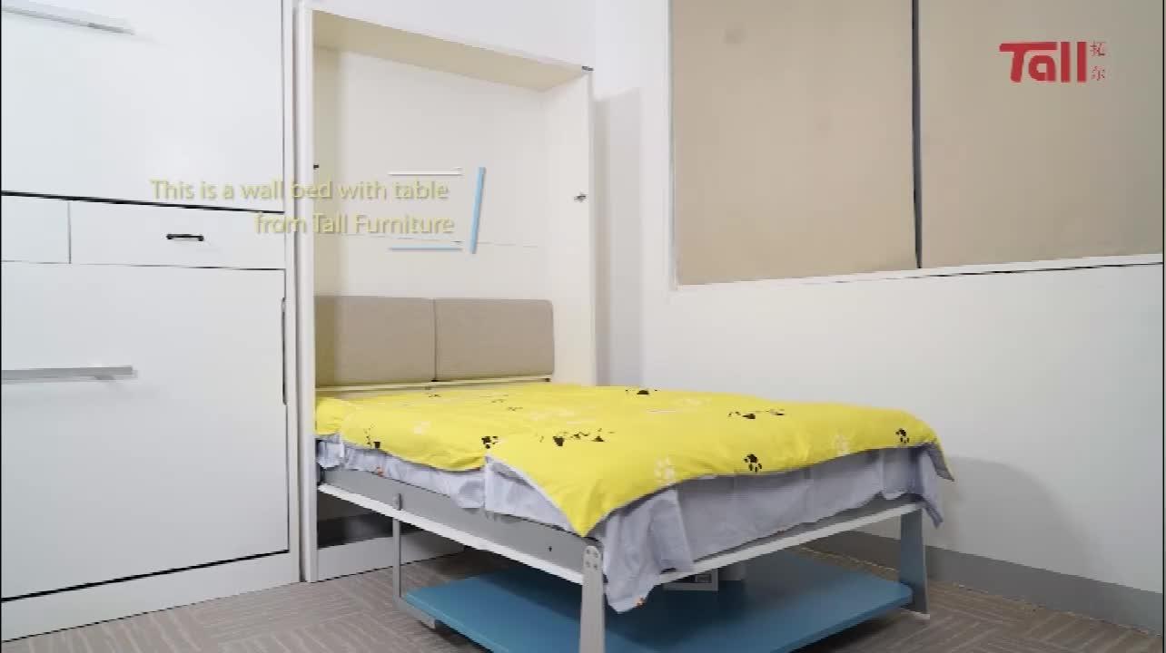 Mécanisme de ressort caché pliant de meubles intelligents de Offre Spéciale économisant le lit mural escamotable monté par espace avec la table