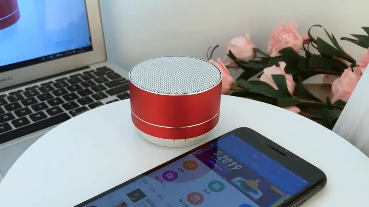 2020 Best Selling Audio Player Mini A10 Bluetooth Speaker FM LED Wireless Portable Speaker for Mobile Phone