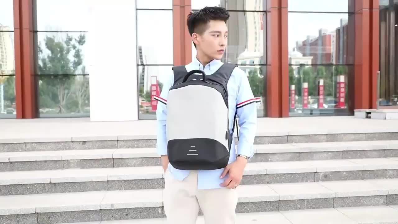 Anti Thief Business Laptop Backpack Water Resistant with USB Charging Port College School Backpacks