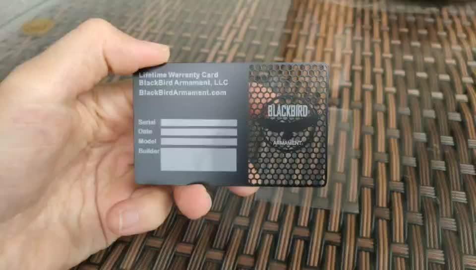 Jiabo dell'acciaio inossidabile di modo personalizzato di visitare il nome biglietto da visita di metallo