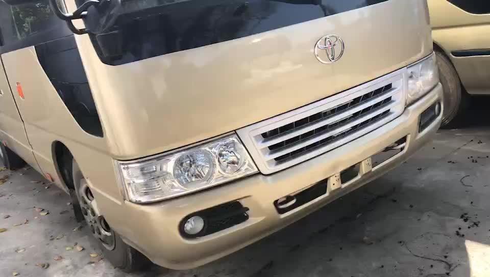 सस्ते Toyot कोस्टर इस्तेमाल किया मिनी बस/20-30 सीटों के कोच बस/पेट्रोल/बिक्री के लिए डीजल बस
