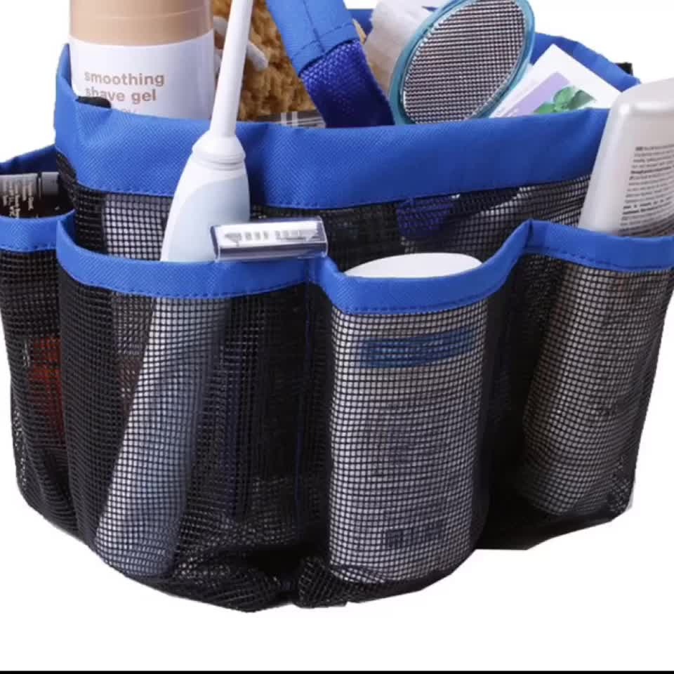 Mesh Shower Caddy Quick Dry Shower Tote Bag Hanging Portable Travel Toiletry Shower Bath Organizer Bag