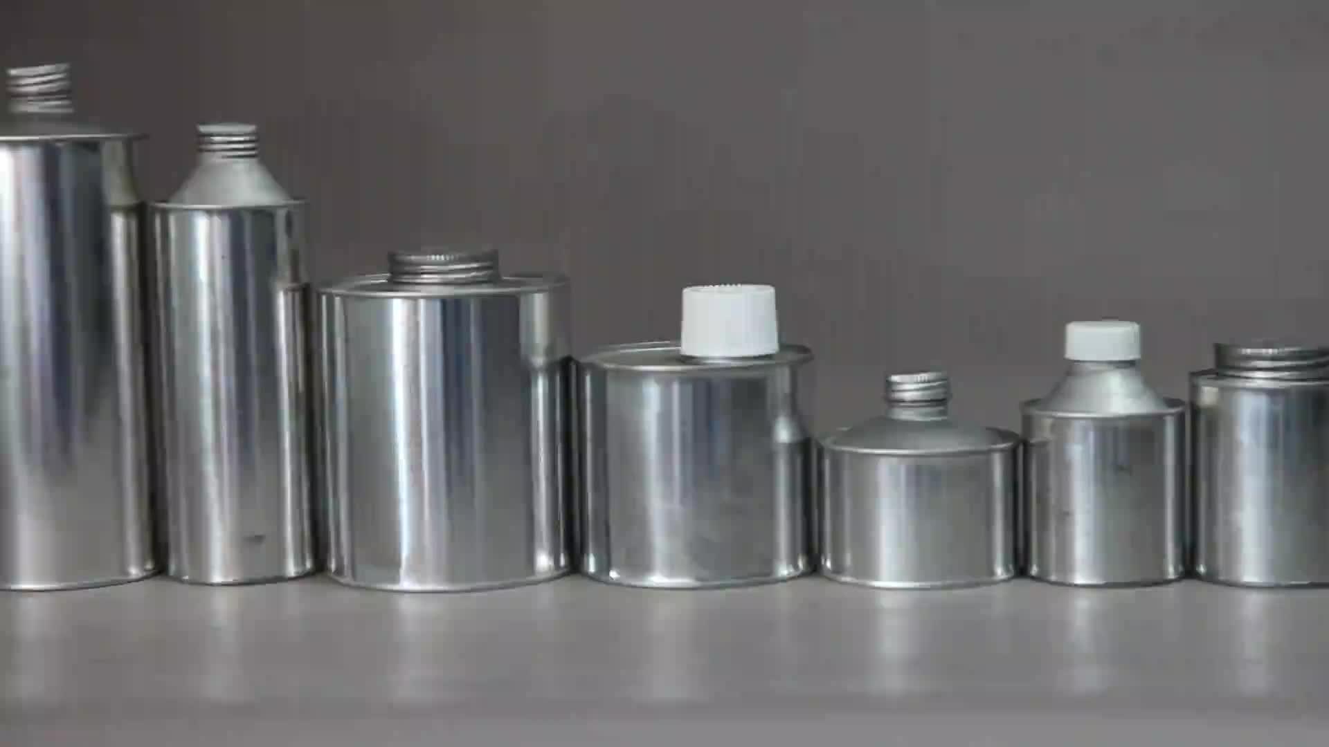 100 ml di latta vuoto aerosol lattine di lattine di alluminio con tappo in plastica