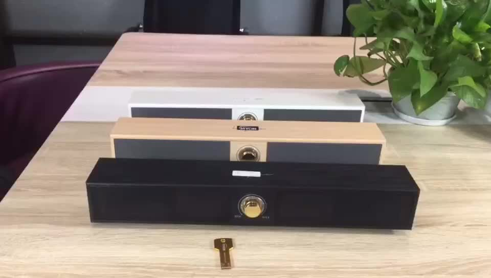 Wooden Portable Wireless Speaker with FM Radio Home Theatre for Mobile Phone Player High Quality Sound Bar Speaker
