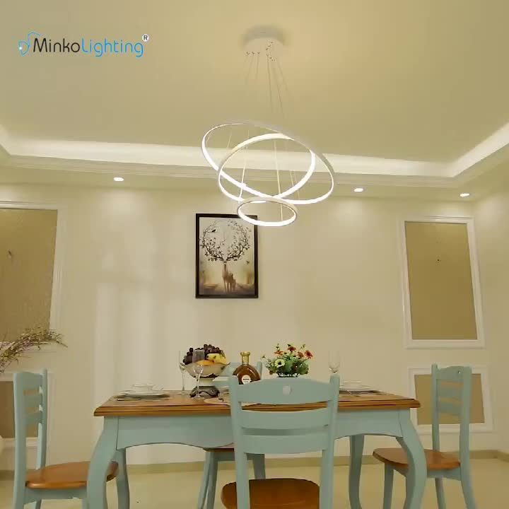 Ornate Iron Ring Chandelier: Decorative Iron Plating Cristal 4 Ring Led Chandelier