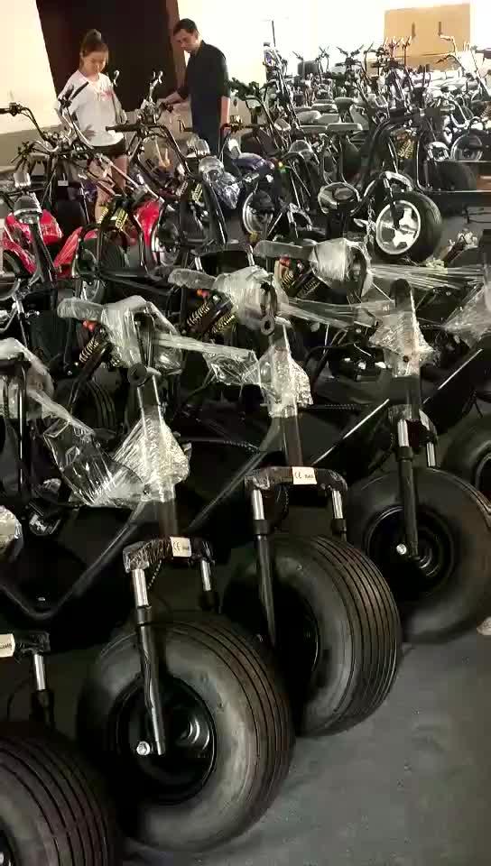 2018 новый продукт ce электрический мотоцикл citycoco 2 колесный скутер электрический 1500 Вт для взрослых