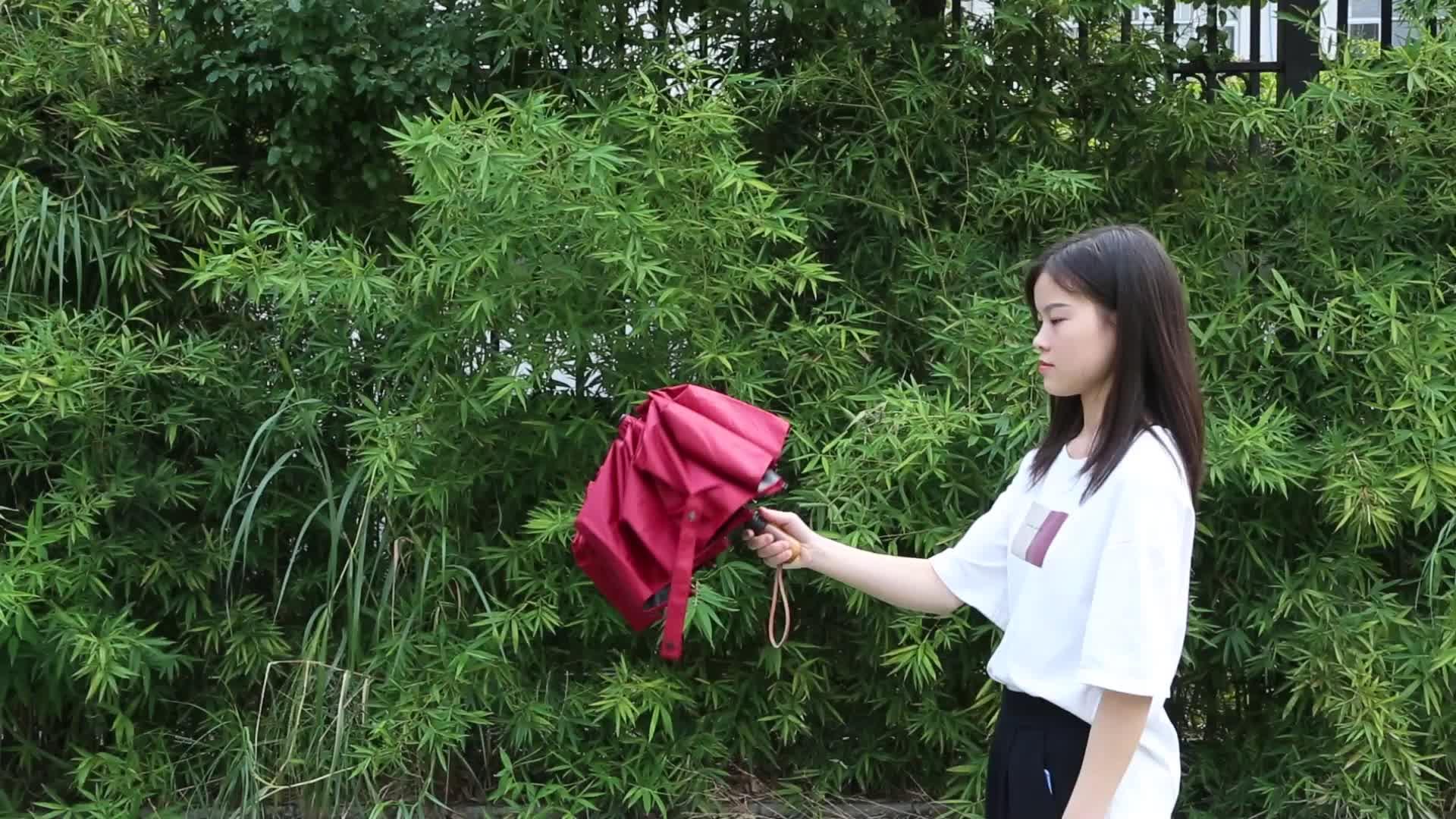 Automatico Antivento Cina Ha Fatto di Stampa 3 Volte Ombrello con Protezione Solare