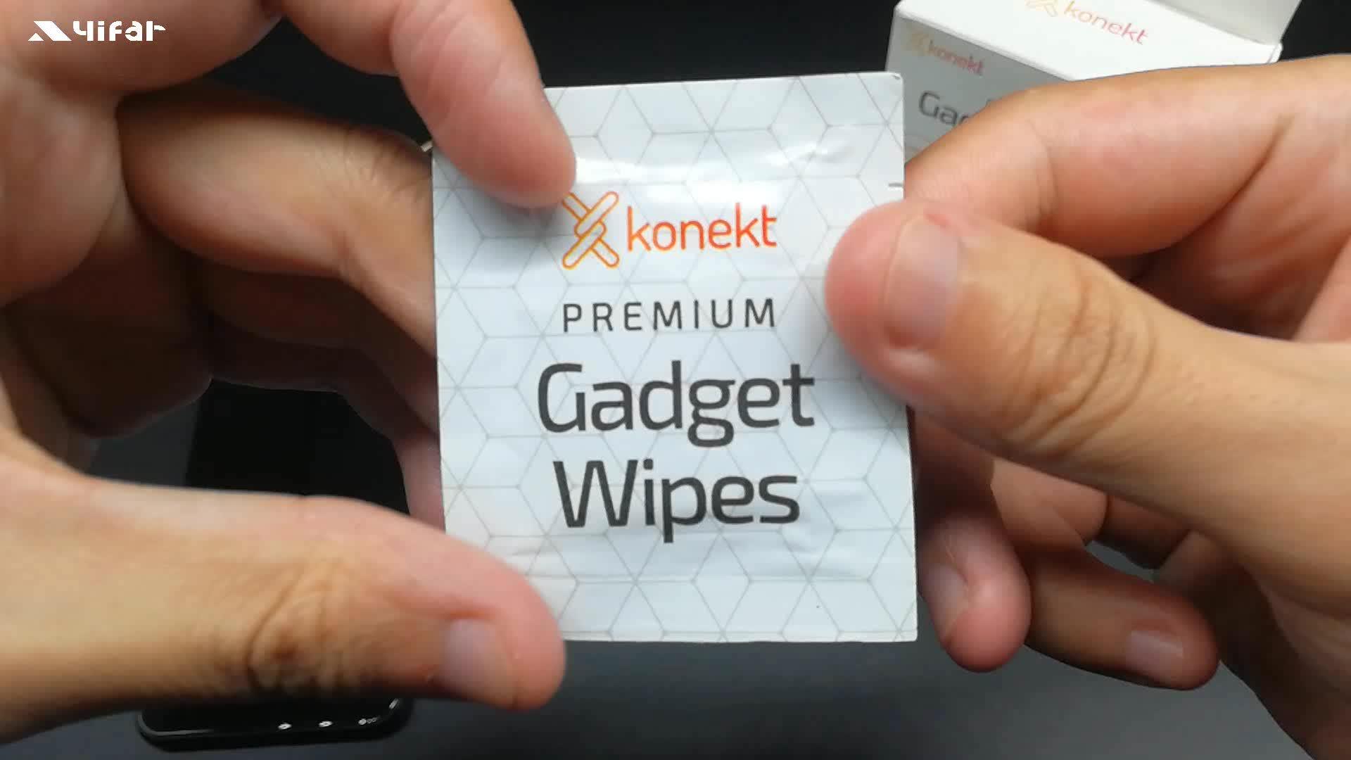 Pocket cleaning clear veeg ehbo direct lens screen natte doekjes
