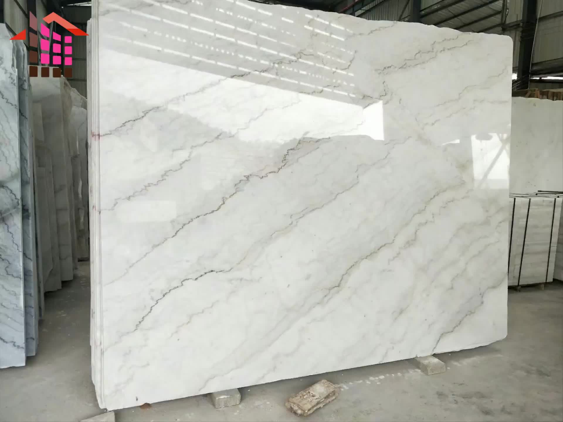 Beautiful Natural White Marble Floor Tiles