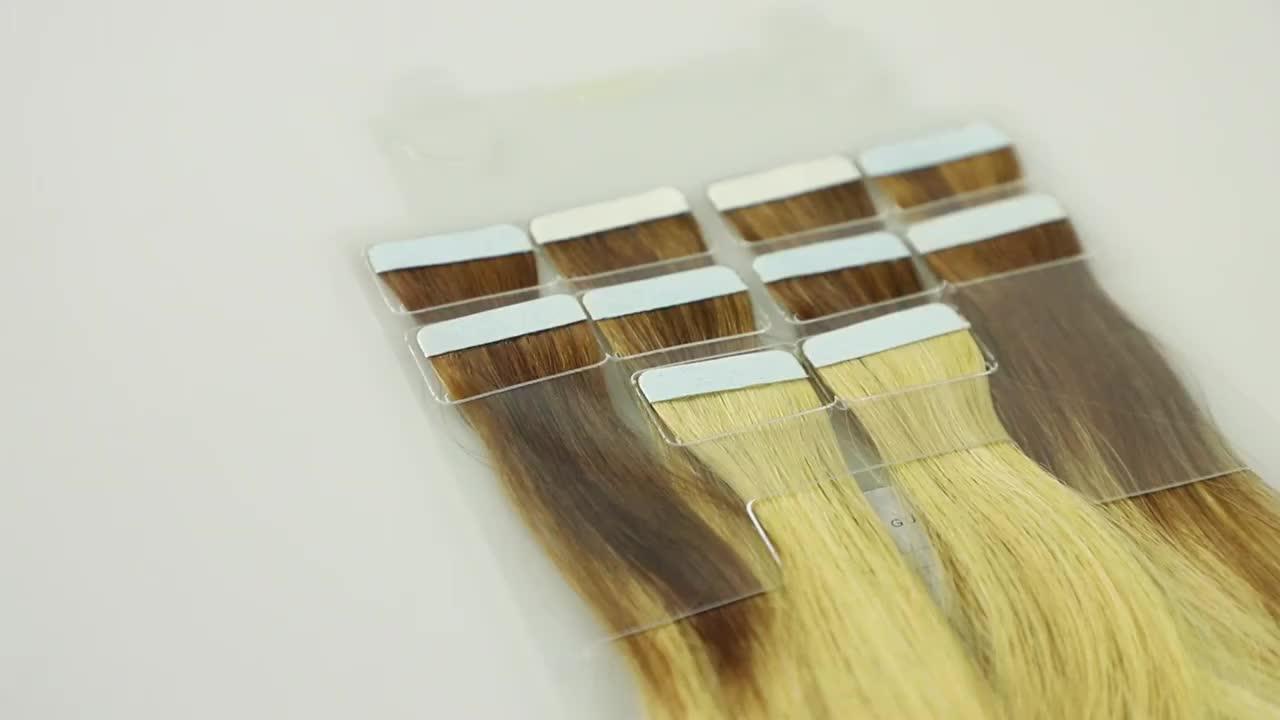 Échantillon gratuit remy ruban invisible dans les extensions de cheveux