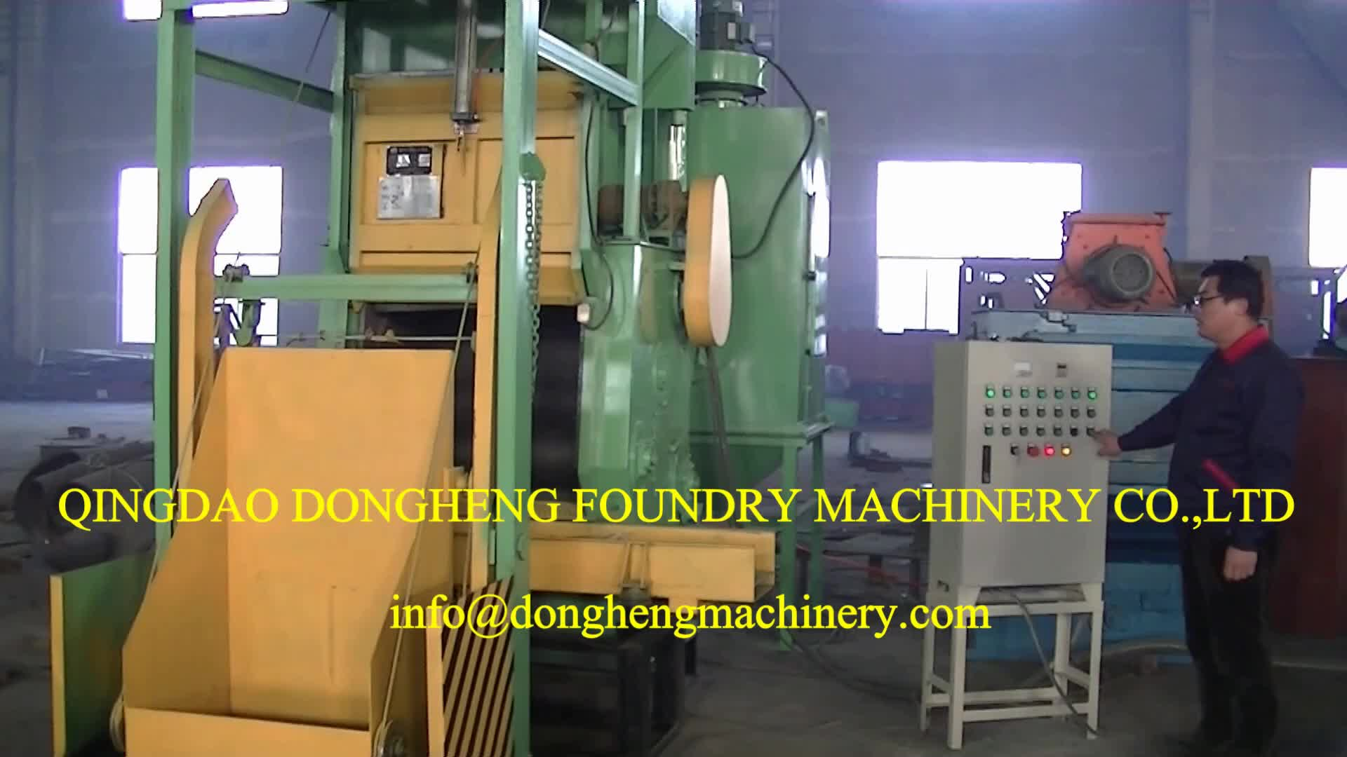 up and down pneumatic door Rubber belt tumble Shot Blasting Cleaning Machine