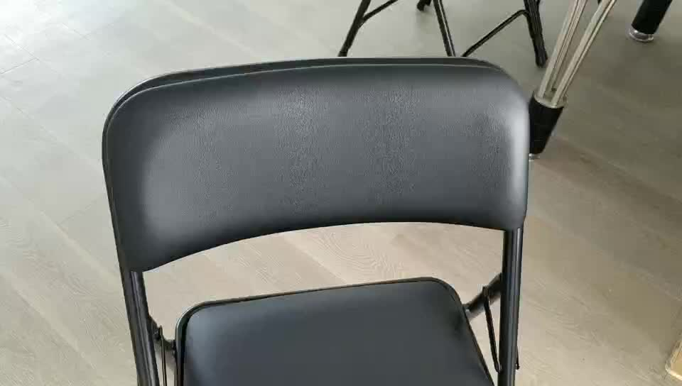 Factory price fabric upholstered foldable leather office chair