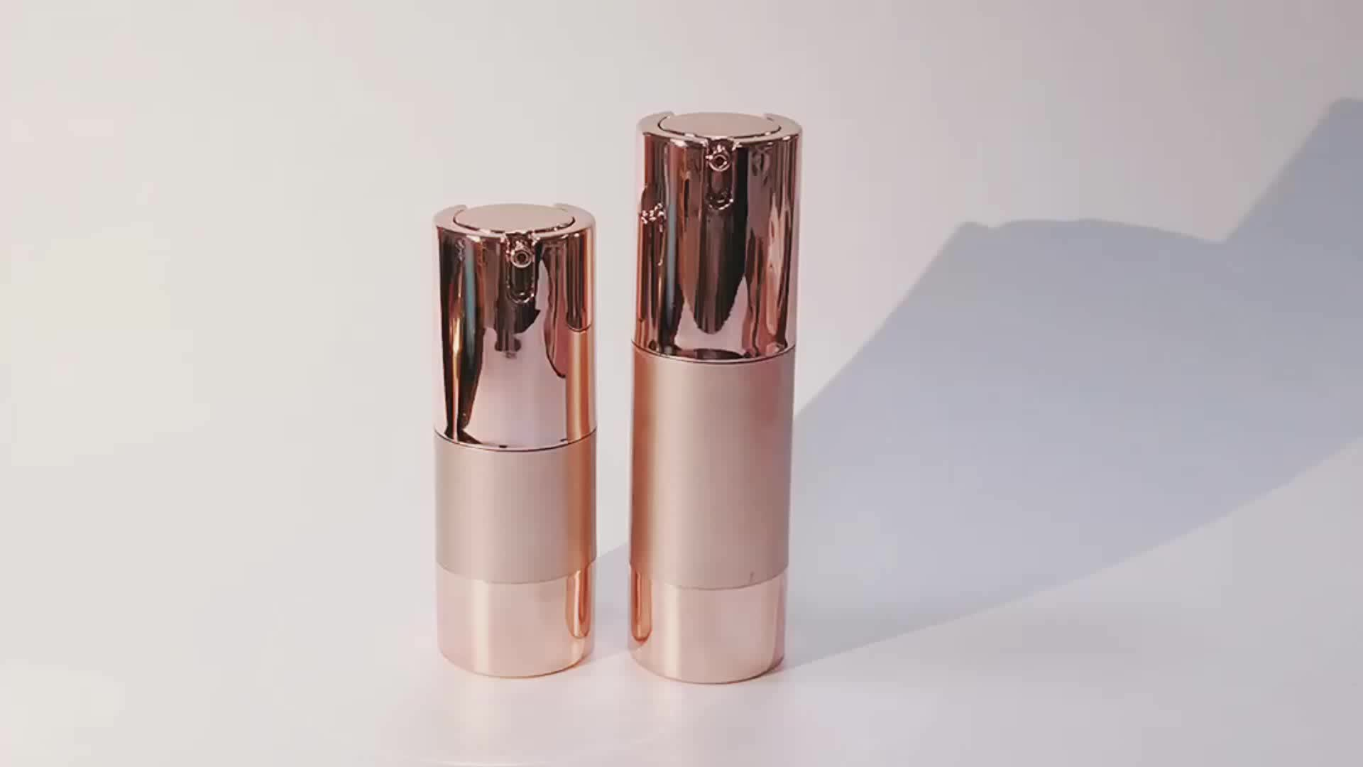SRS luxe cosmetica 50 ml rose gold airless pomp fles