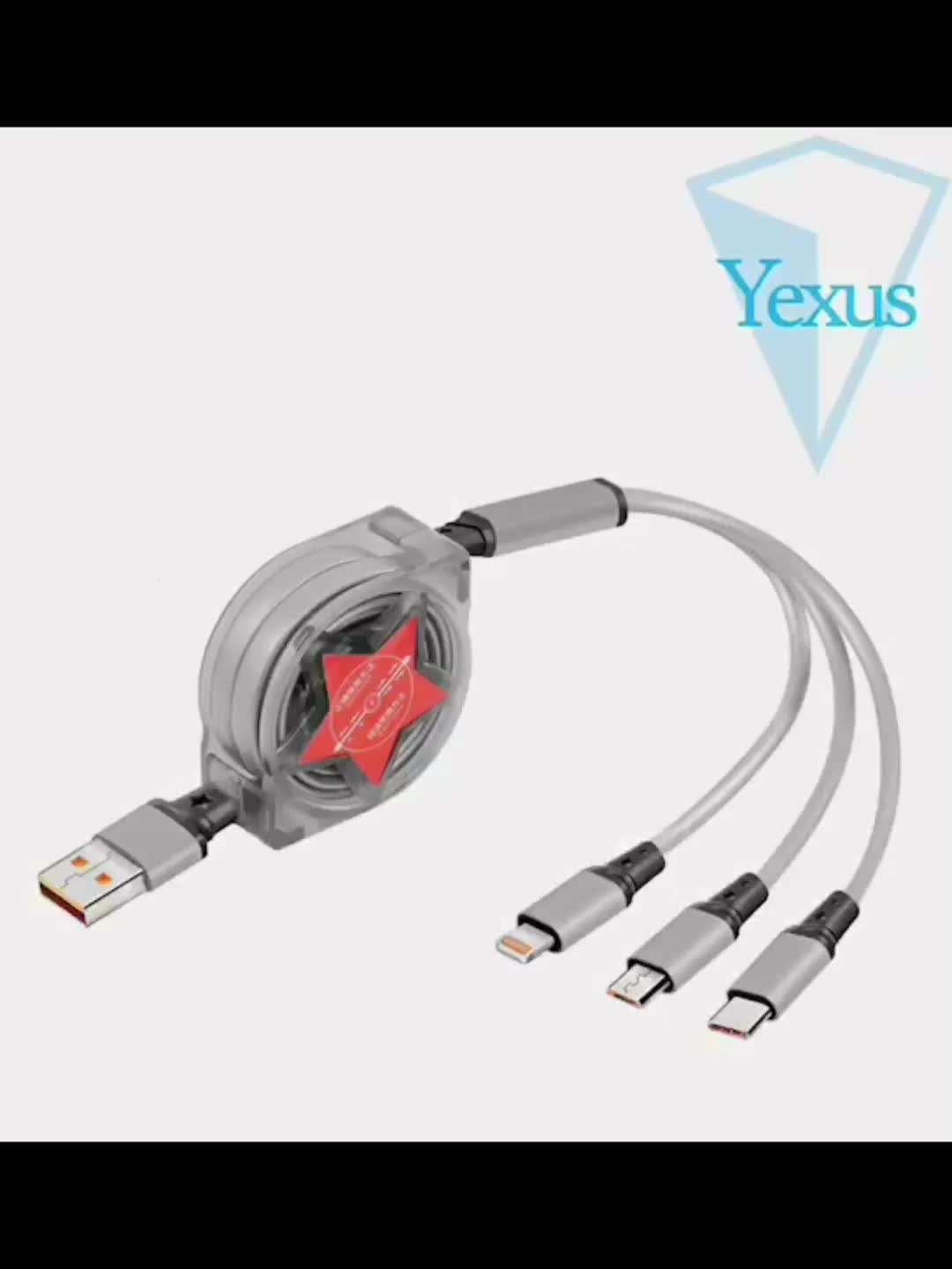Direct Factory Supplier 3 in 1 Cable Usb for Charging