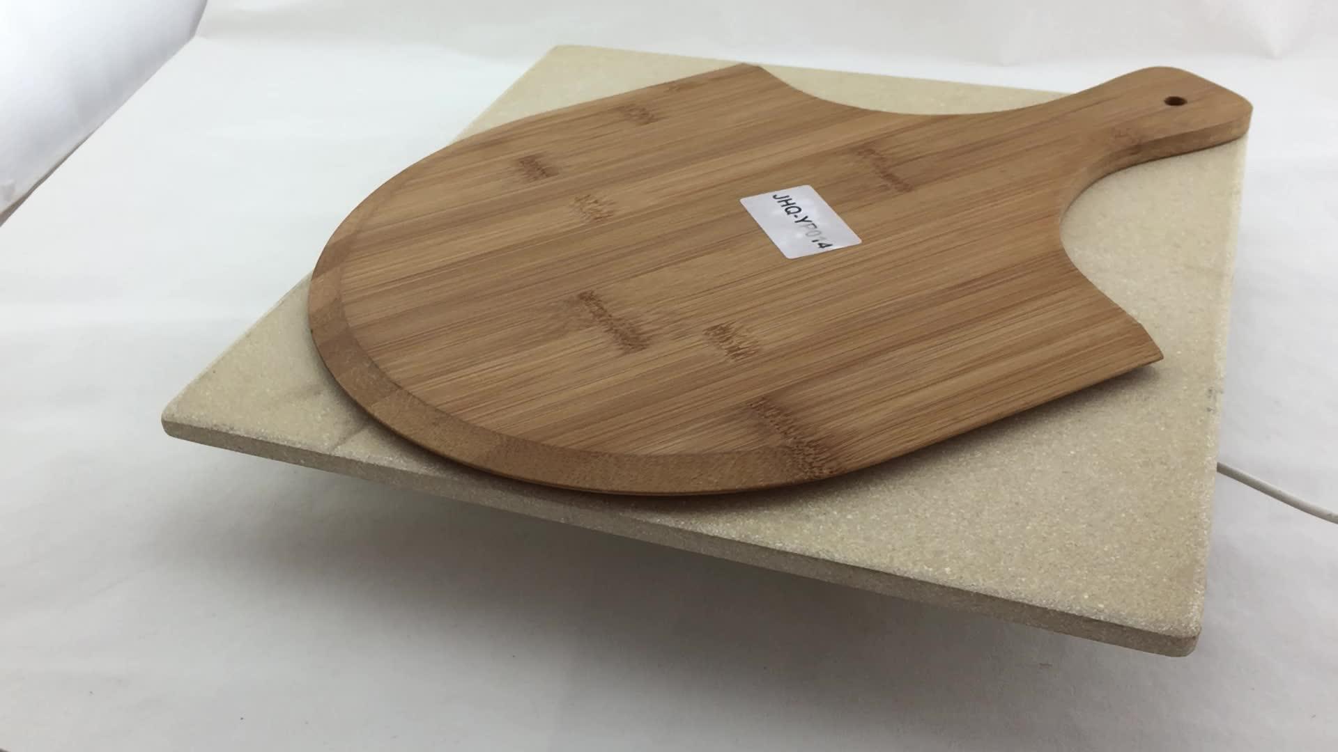 木製ハンドルピザパドルウッディグリルスクレーパーウッディピザの皮