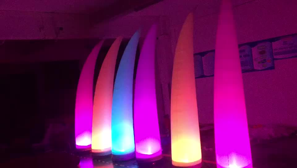 Custom Inflatable LED Lighting Arch Tube Pillar Star Wedding Event Christmas Decoration LED Lighted Inflatables For Sale