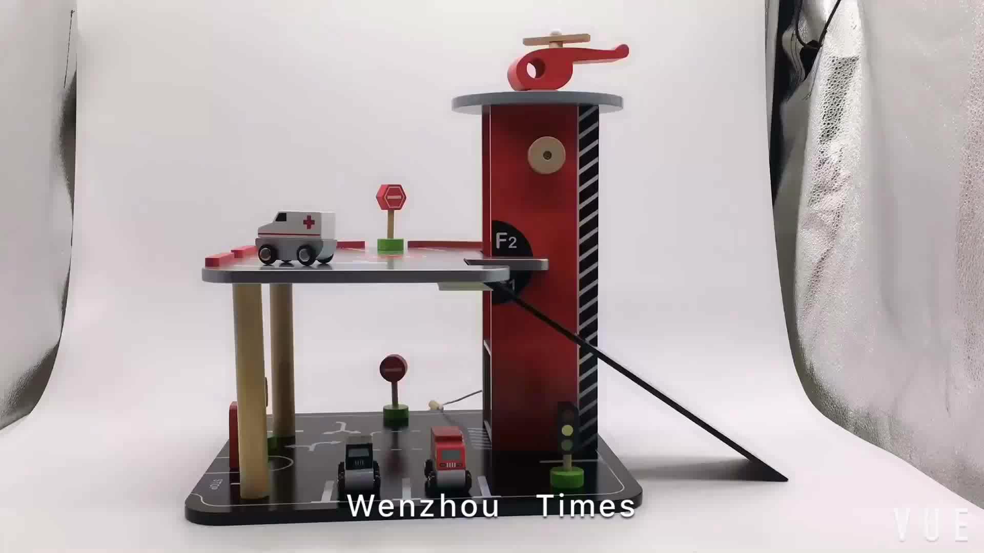 Neue produkte kinder parkplatz spielzeug kleines holzspielzeug garage W04B047