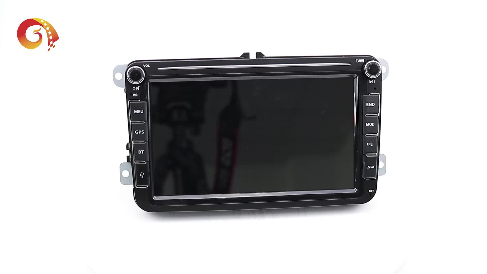 ダブルディンタッチスクリーン Bluetooth 9 インチ Vw クラフター caddy Passat CC