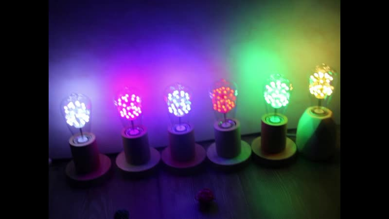 Amazon hot sale Christmas home decoration firework 6 colors included E27 ST64 starry LED bulb