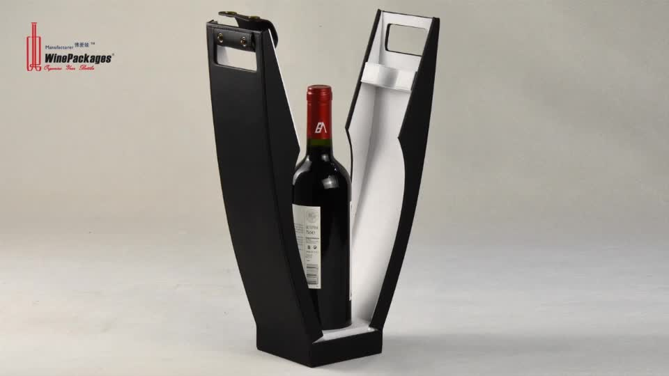 PU Leather Luxury Customize Single vodka Bottle Box