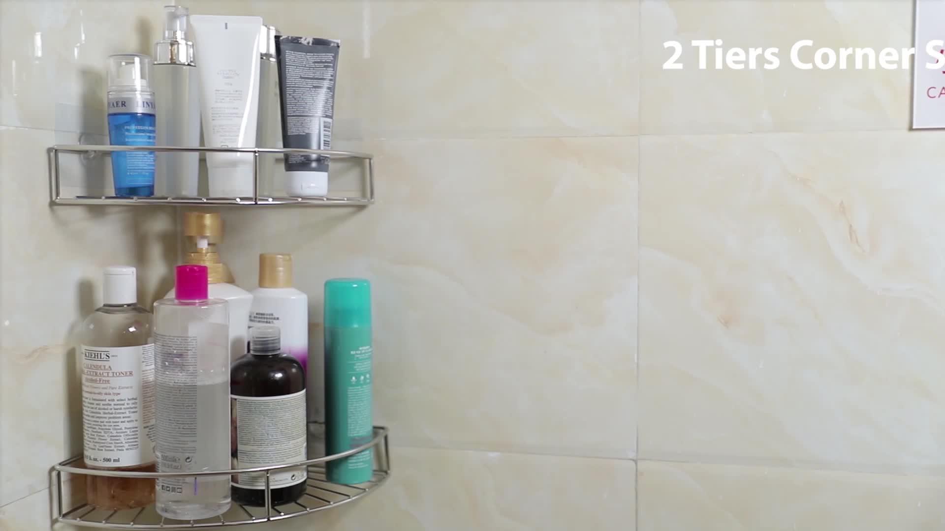 No Drilling Stainless Steel Shower Corner Shelf For Bathroom Buy Shower Corner Shelf Shower Organizer Corner Bathroom Corner Shelf Shower Shelf