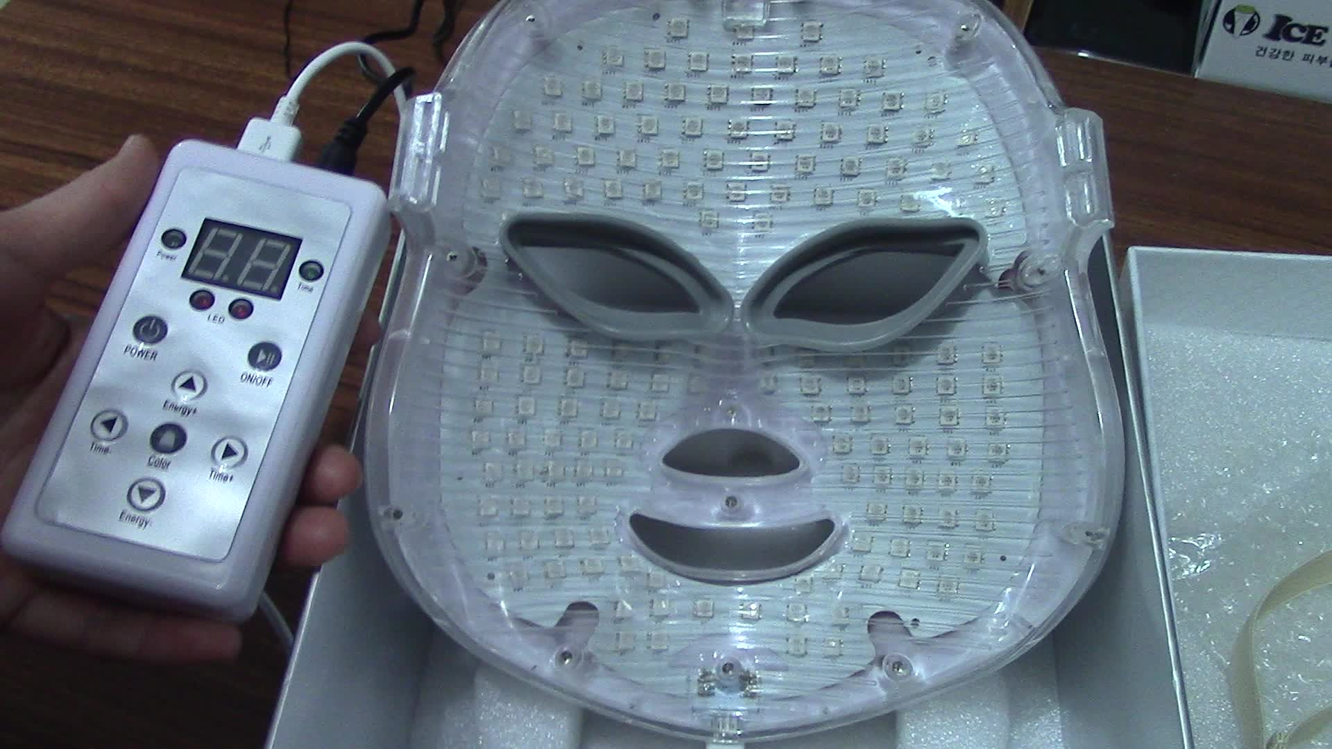 Anti-invecchiamento Rimuovere Rughe Ringiovanimento Macchina PDT Led Photon Terapia Viso Lifting Maschera LED