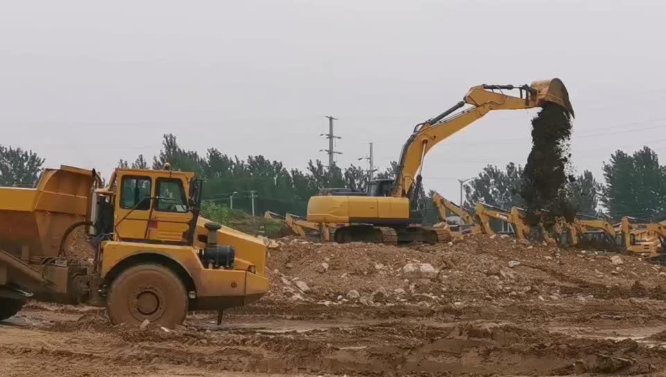 Earthmoving เครื่องจักรจีน 30 ตัน crawler excavator สำหรับขาย