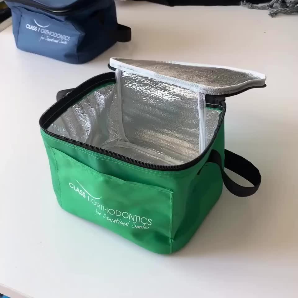 น่ารักรูปแบบบล็อกอเนกประสงค์ Cooler กระเป๋าอาหารกล่องอาหารกลางวัน