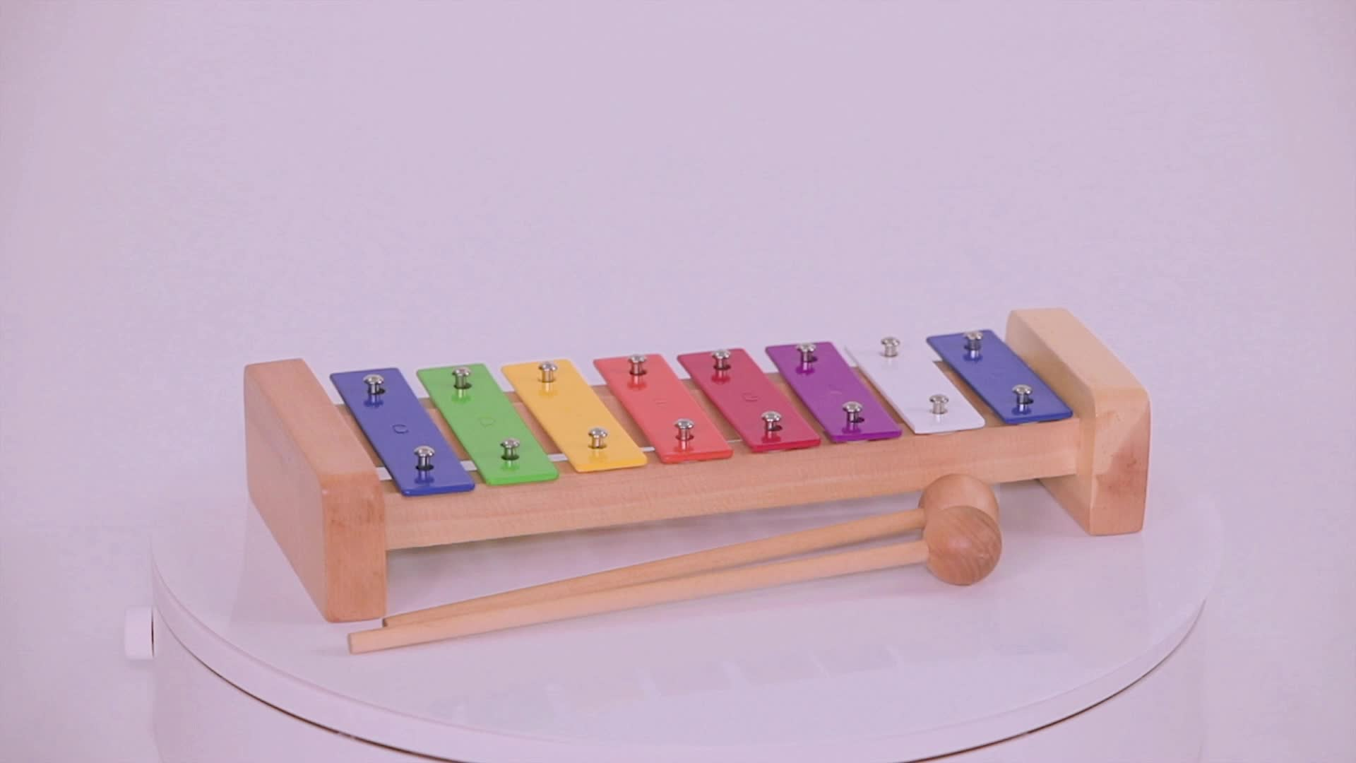 Orff instrument 8-tone steel plate piano, 8-tone Metallophone early education educational toy kindergarten teaching aids