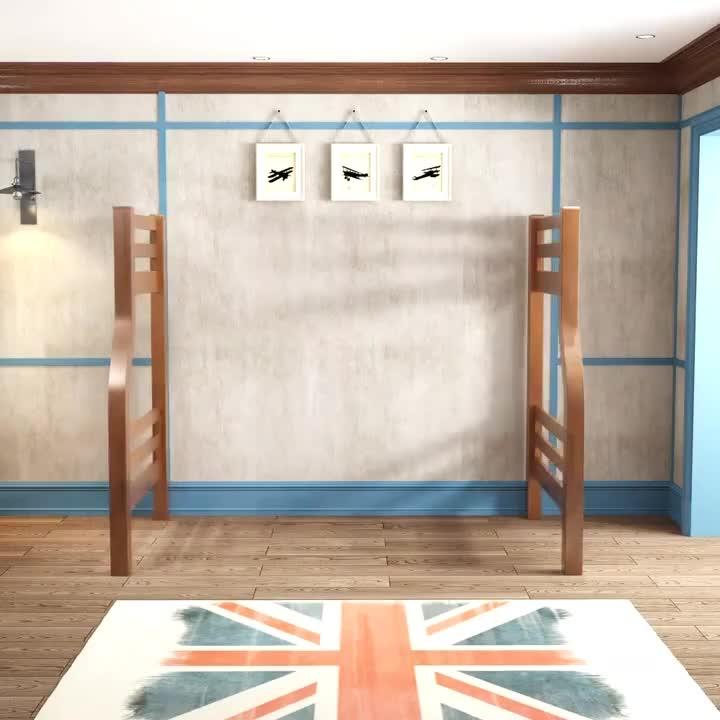 En düşük fiyat çocuk odası mobilyaları katı ahşap ranza çocuk ranzası ranza çocuklar için