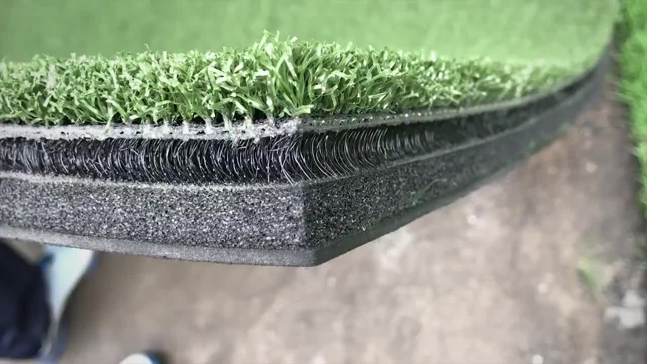 3D Golf driving range practice hitting mat