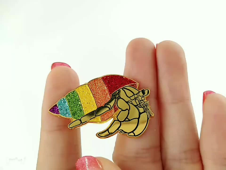 wholesale metal enamel logo lapel pins & badges with butterfly cluth