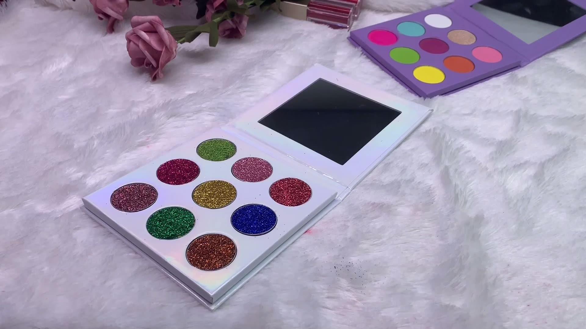 9 रंग निजी लेबल आंखों के छायाएं पैलेट कस्टम आंखों के छायाएं पैलेट निजी लेबल