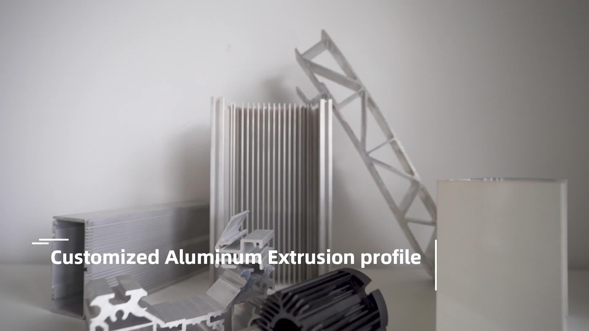 TToshine 3003 5052 6061 6063 7075 7005 grade part manufacturers aluminum extrusion profile