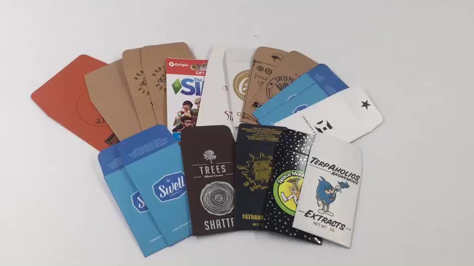 Custom mini small 100% recyclable biodegradable cheap brown kraft paper seed envelopes
